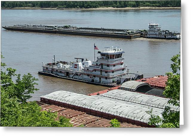 The Towboat Buckeye State Greeting Card by Garry McMichael