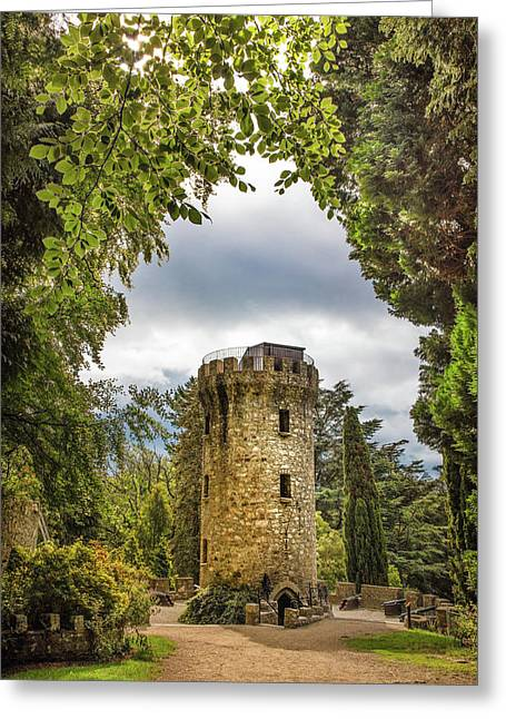 The Tower At Powerscourt Gardens Greeting Card