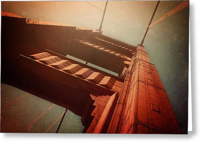The Towering Golden Gate Greeting Card by Carol Japp