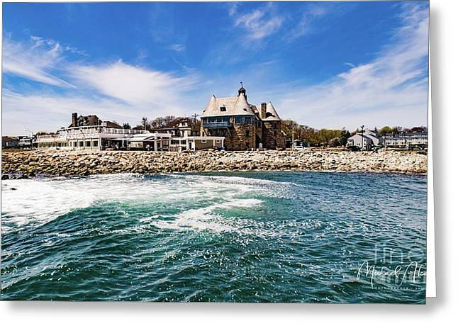 The Towers Of Narragansett  Greeting Card