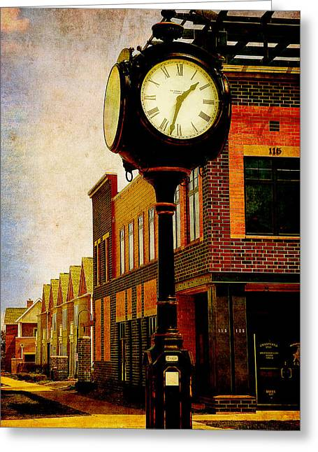 the Town Clock Greeting Card