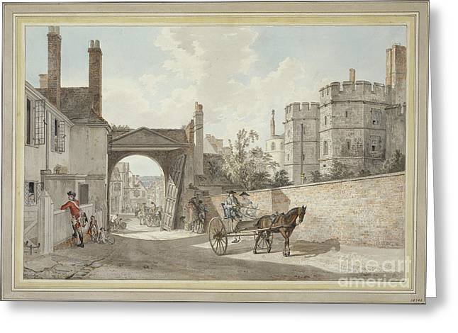 The Town Gate Looking Westwards Down Castle Hill Greeting Card by MotionAge Designs