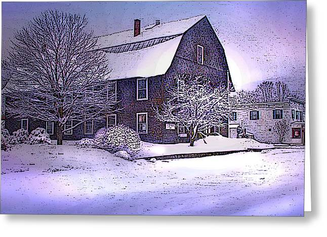 The Town Hall In Reading Vermont Greeting Card by Nancy Griswold