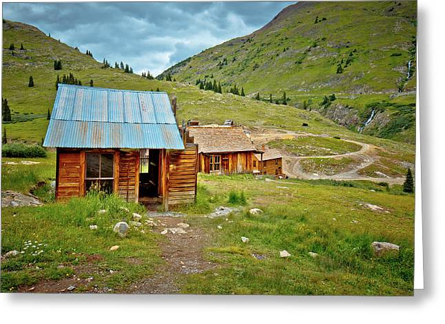 The Town Of Animas Forks Greeting Card