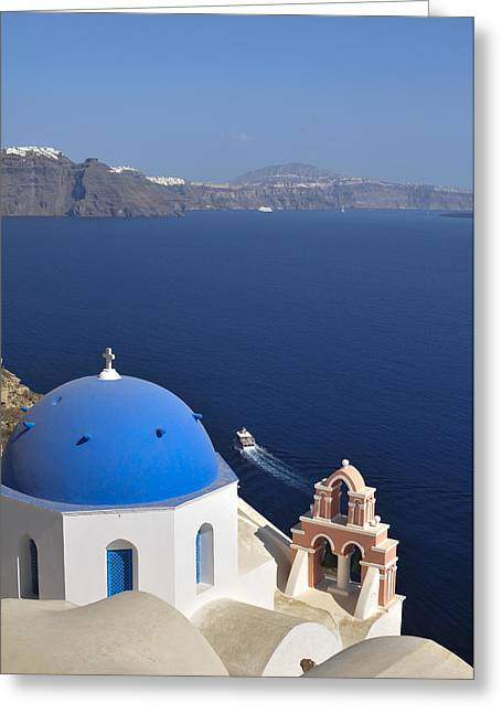 The Town Of Fira, The Capital Greeting Card