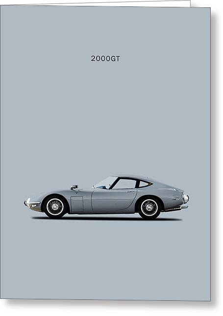The Toyota 2000gt Greeting Card by Mark Rogan
