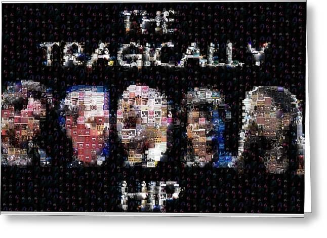 The Tragically Hip Mosaic Greeting Card by Paul Van Scott