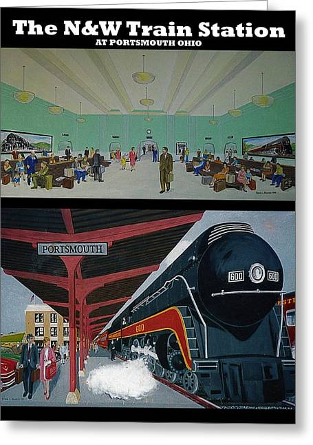 The Train Station At Portsmouth Ohio Greeting Card by Frank Hunter