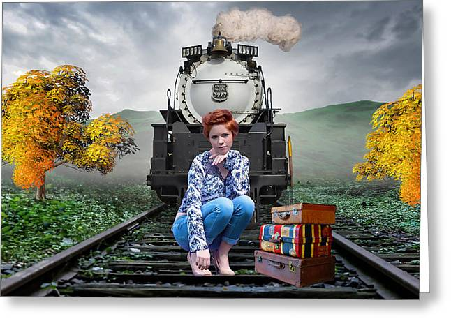 The Train Stops Here Greeting Card