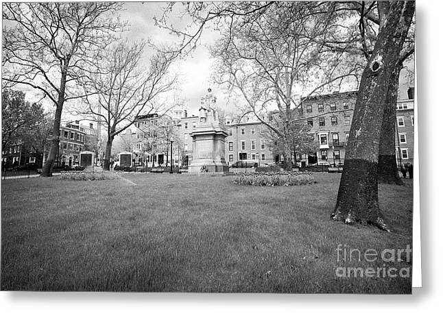 The Training Field At Winthrop Square Charlestown Boston Usa Greeting Card
