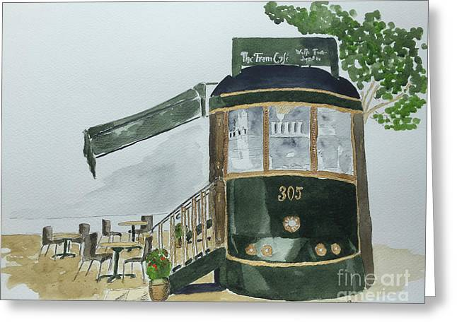The Tram Cafe Greeting Card