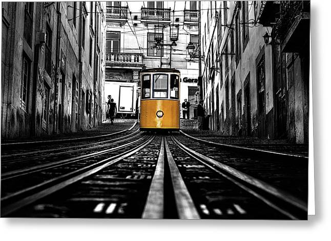 The Tram Greeting Card
