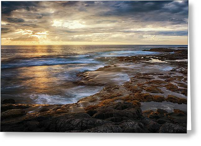 Greeting Card featuring the photograph The Tranquil Seas by Susan Rissi Tregoning