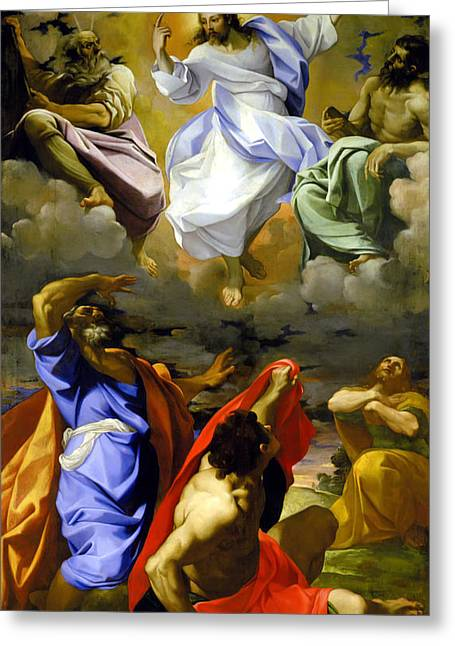 The Transfiguration Of Our Lord Greeting Card by Lodovico Carracci