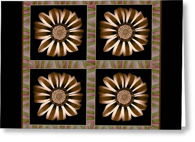 The Transformation Of Flower 1 - Stasis Greeting Card by Jacqueline Migell