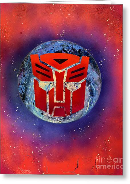 The Transformers Greeting Card by Justin Moore