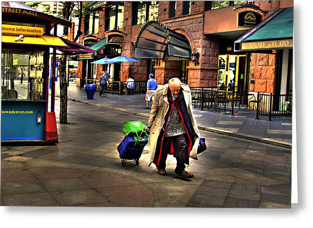 The Traveler Greeting Card by Laurie Prentice