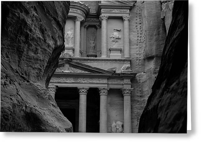 The Treasury - Petra Greeting Card by Peter Dorrell