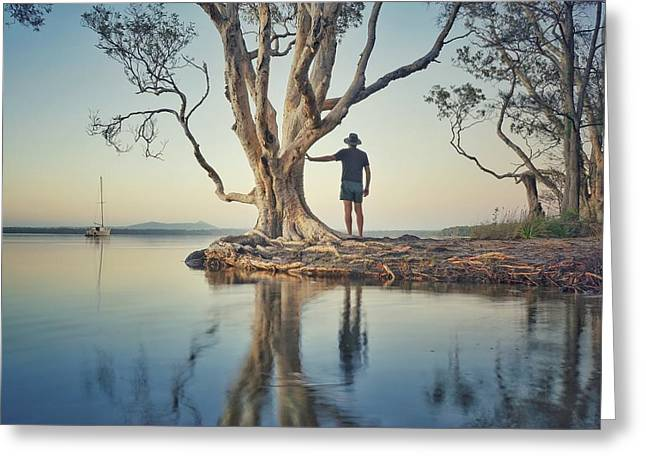 Greeting Card featuring the photograph The Tree And Me by Keiran Lusk