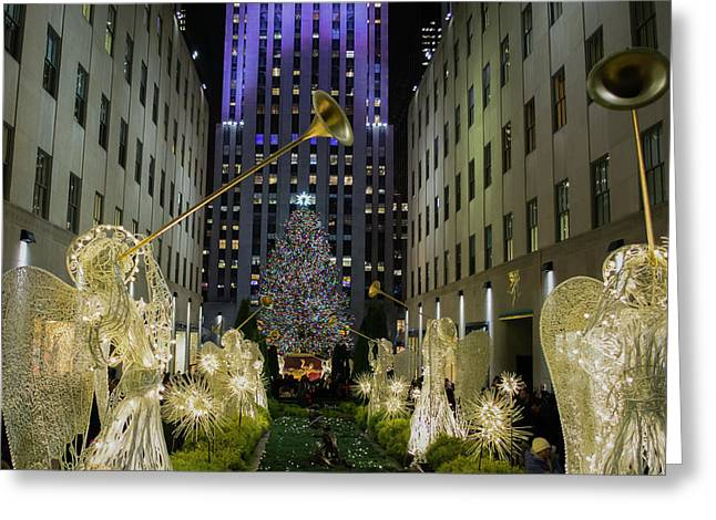 The Tree At Rockefeller Plaza Greeting Card