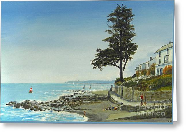 The Tree By The Sea Greeting Card by Sandra  Francis