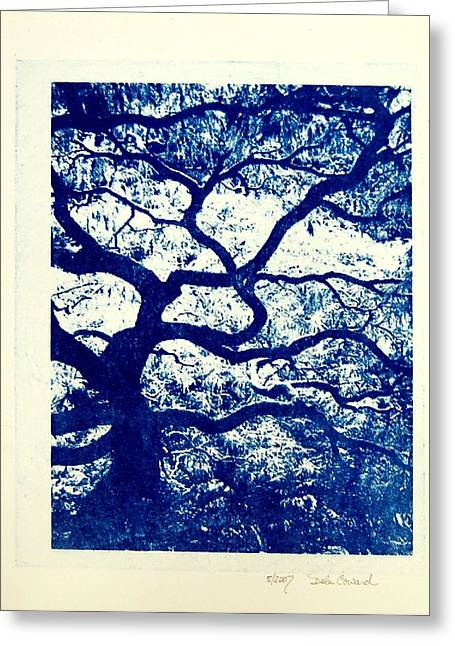 The Tree Greeting Card by DeLa Hayes Coward
