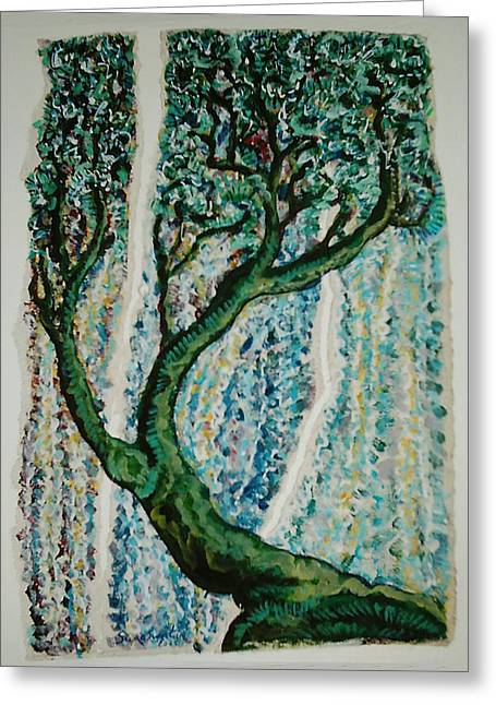 The Tree Energy Greeting Card by Helene  Champaloux-Saraswati