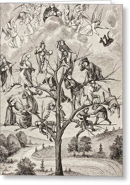 The Tree Of Battles. Allegorical Greeting Card