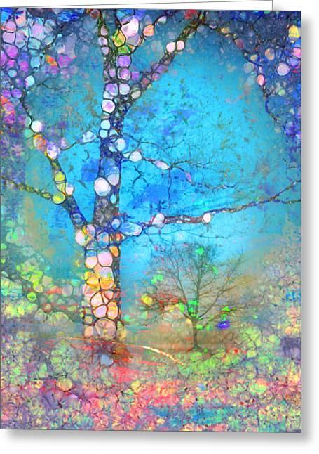 The Tree Of Blue Spirits Greeting Card by Tara Turner
