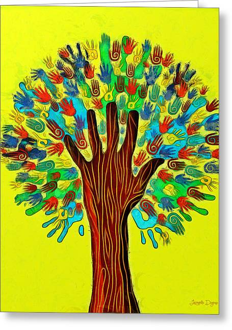 The Tree Of Hands - Da Greeting Card