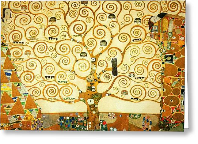 The Tree Of Life Greeting Card by Gustav Klimt