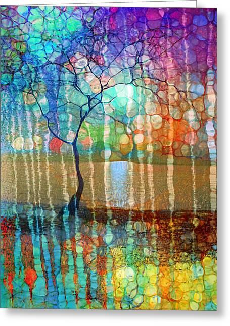 The Tree Of Missing Memories Greeting Card by Tara Turner