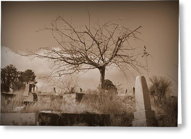 The Tree On Boot Hill  Greeting Card