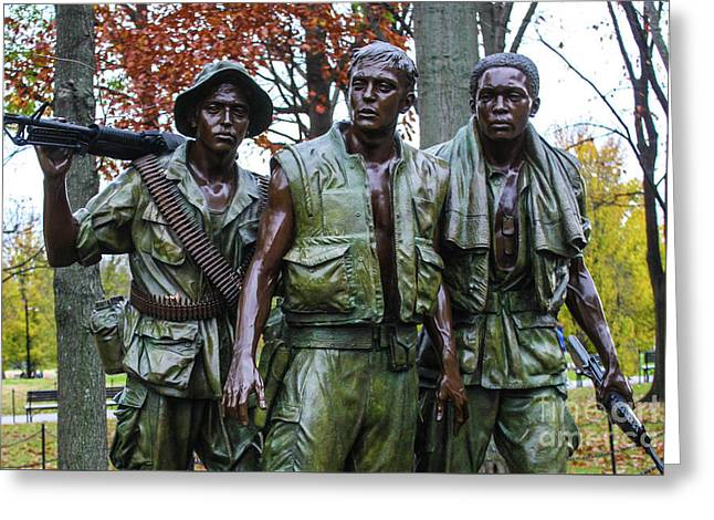 The Three Soldiers Greeting Card by William Rogers