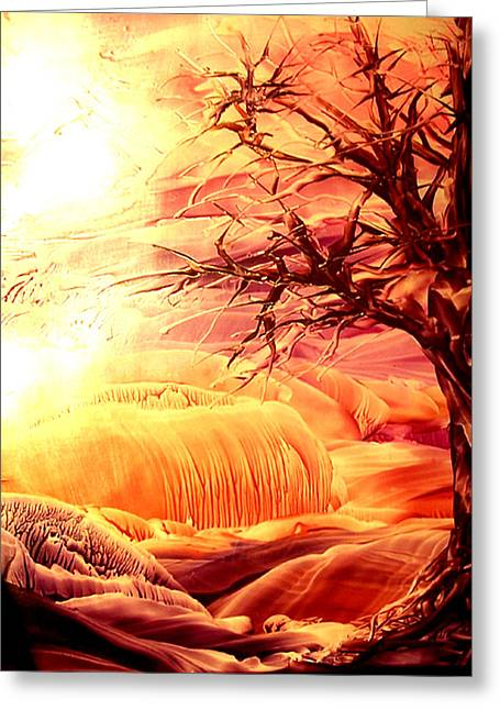 The Tree Greeting Card by Tezz J