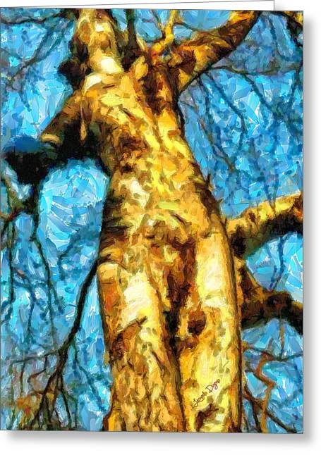 The Tree That Wanted To Be A Woman - Pa Greeting Card by Leonardo Digenio