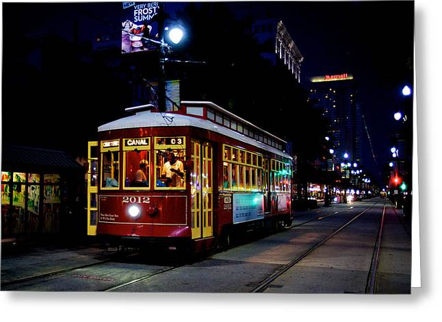 Greeting Card featuring the photograph The Trolley by Evgeny Vasenev