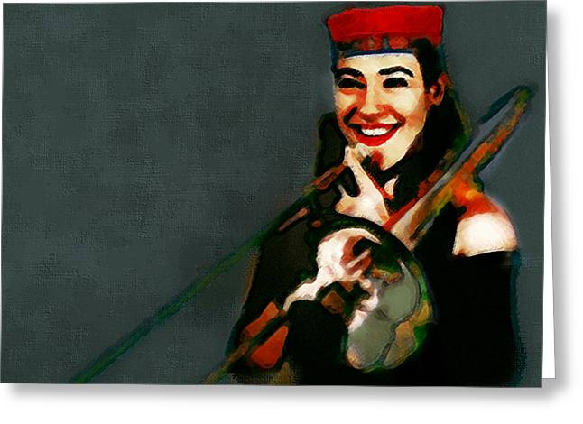 The Trombonist Painting Greeting Card