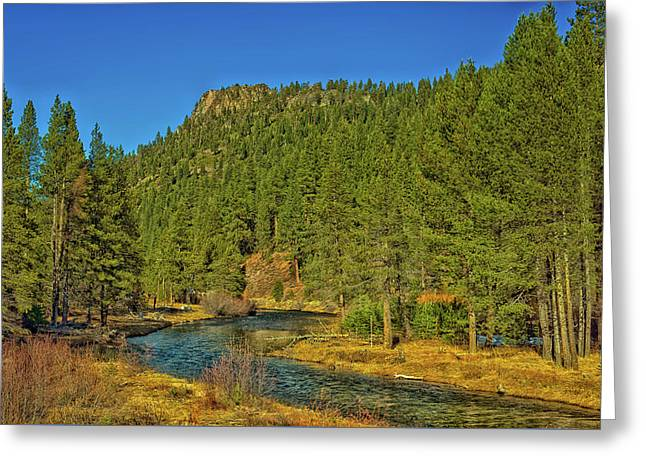 The Truckee River Greeting Card by Mountain Dreams