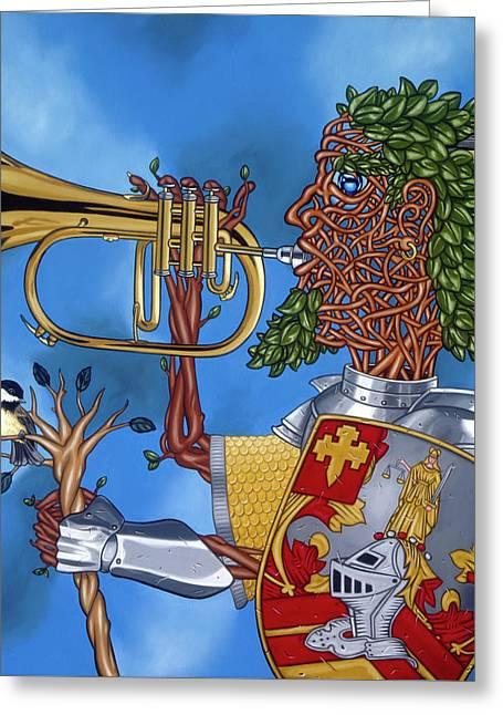The Trumpiter Greeting Card