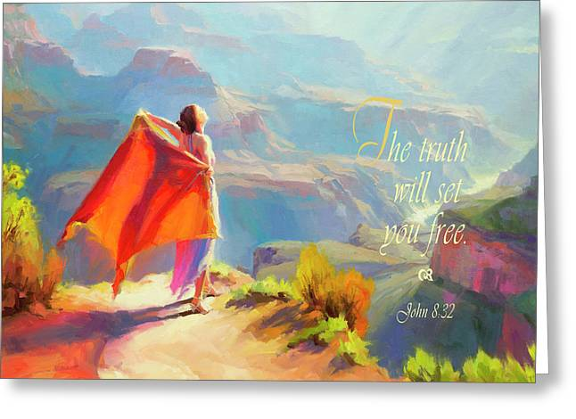 The Truth Will Set You Free Greeting Card