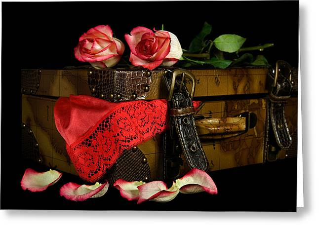 The Tryst Greeting Card by Maria Dryfhout