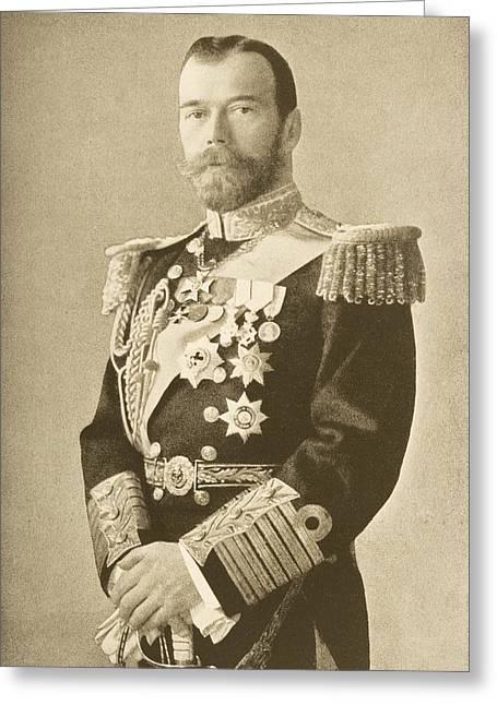 The Tsar Nicholas II Of Russia 1868-1918 Greeting Card