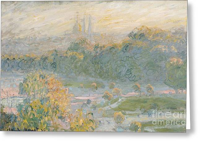 The Tuileries Greeting Card by Claude Monet