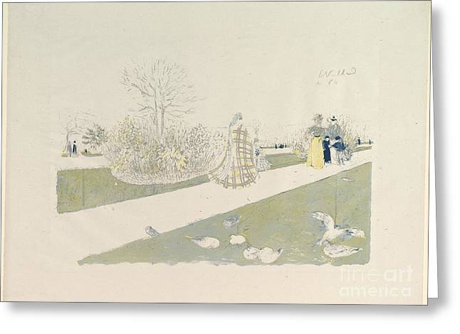 The Tuileries Garden Greeting Card by Celestial Images