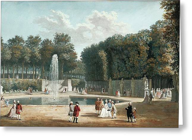The Tuileries Garden Greeting Card by MotionAge Designs