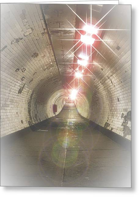 The Tunnel Greeting Card by Martin Newman