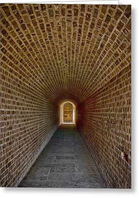 Greeting Card featuring the photograph The Tunnels Of Fort Clinch by Paula Porterfield-Izzo