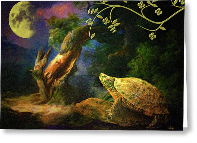 The Turtle Of The Moon Greeting Card