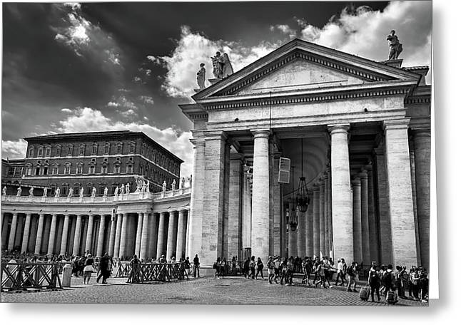The Tuscan Colonnades In The Vatican Greeting Card